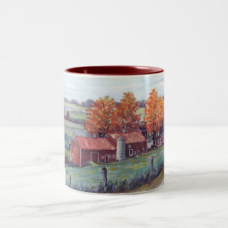 Wisconsin Landscape-mug Two-Tone Coffee Mug