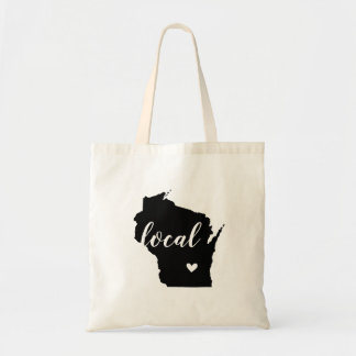 Wisconsin Local State Tote Bag