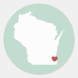 Wisconsin Love - Customizable Sticker