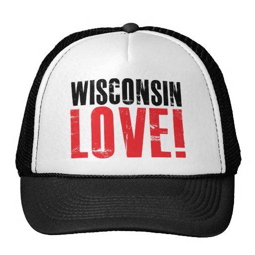 Wisconsin Love Mesh Hat