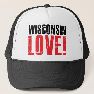 Wisconsin Love Trucker Hat
