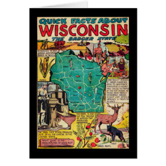 Wisconsin Map and Facts Card