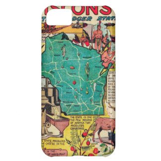 Wisconsin Map and Facts iPhone 5C Covers