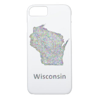 Wisconsin map iPhone 7 case