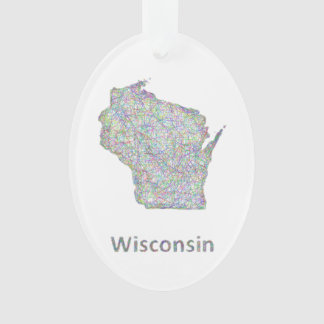 Wisconsin map ornament