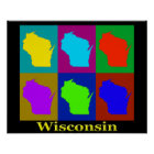 Wisconsin Map Silhouette Poster