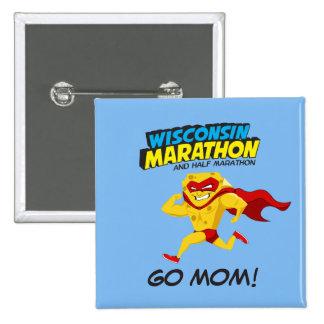 Wisconsin Marathon Race Day 15 Cm Square Badge