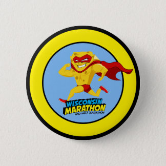 Wisconsin Marathon Race Day 6 Cm Round Badge