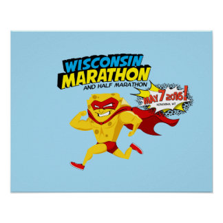 Wisconsin Marathon Race Day Poster