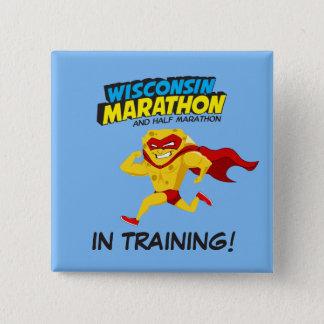 Wisconsin Marathon Training 15 Cm Square Badge