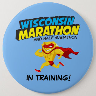Wisconsin Marathon Training 6 Cm Round Badge