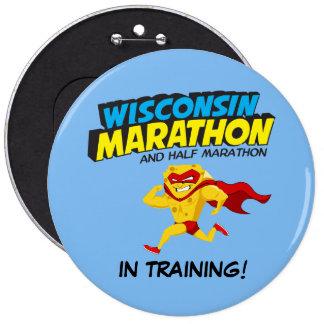 Wisconsin Marathon Training 6 Cm Round Badge