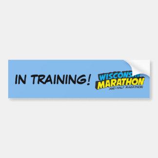 Wisconsin Marathon Training Bumper Sticker