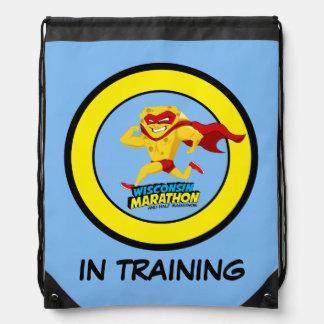 Wisconsin Marathon Training Drawstring Bag
