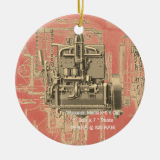 Wisconsin Motor Milwaukee Wisconsin Engine Early Christmas Ornament