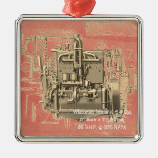 Wisconsin Motor Milwaukee Wisconsin Engine Early K Christmas Ornament