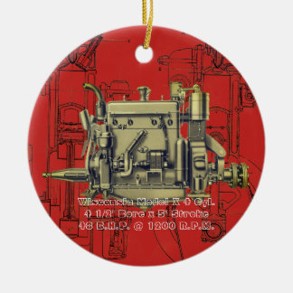 Wisconsin Motor Milwaukee Wisconsin gas engine X Christmas Ornament