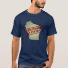 Wisconsin Native Stamped on Map T-Shirt