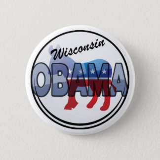 Wisconsin Obama Democrat Design 6 Cm Round Badge