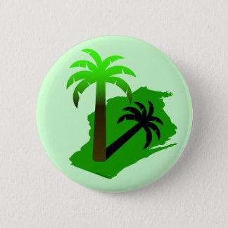 Wisconsin Palm Tree 6 Cm Round Badge
