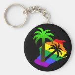 Wisconsin Palm Tree Keychains