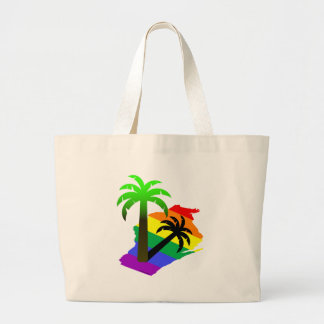 Wisconsin Palm Tree Large Tote Bag