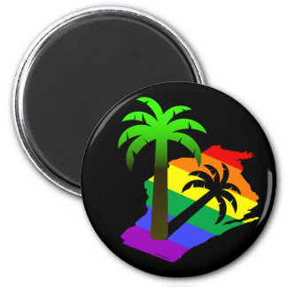 Wisconsin Palm Tree Magnet
