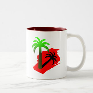 Wisconsin Palm Tree Two-Tone Coffee Mug