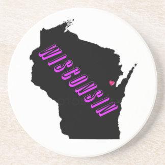 Wisconsin purple black coasters