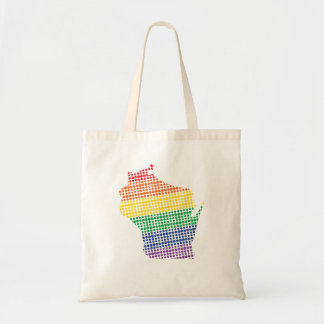 Wisconsin Rainbow State Tote Bag