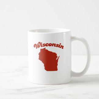 WISCONSIN Red State Basic White Mug