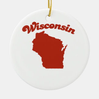 WISCONSIN Red State Ornament