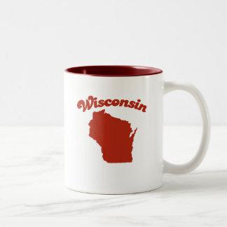 WISCONSIN Red State Two-Tone Coffee Mug