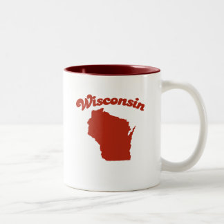 WISCONSIN Red State Two-Tone Mug