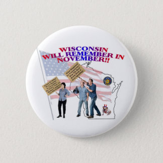 Wisconsin - Return Congress to the People! 6 Cm Round Badge