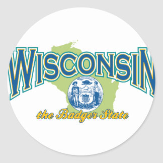 Wisconsin Round Sticker
