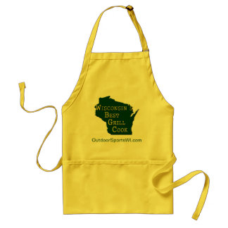 Wisconsin s Best Grill Cook - Green Yellow Apron