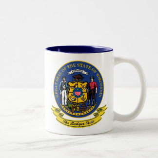 Wisconsin Seal Two-Tone Coffee Mug