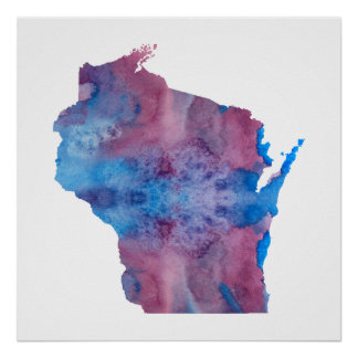 Wisconsin silhouette poster