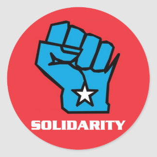 Wisconsin Solidarity Fist Classic Round Sticker