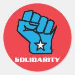 Wisconsin Solidarity Fist Round Sticker