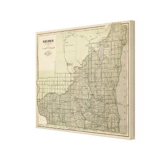 Wisconsin South part Canvas Print