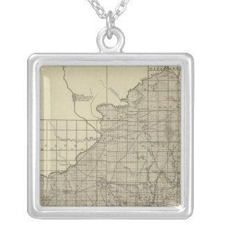 Wisconsin South part Silver Plated Necklace