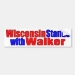 Wisconsin stands with Walker Bumper Sticker