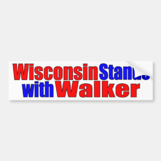 Wisconsin stands with Walker Bumper Sticker