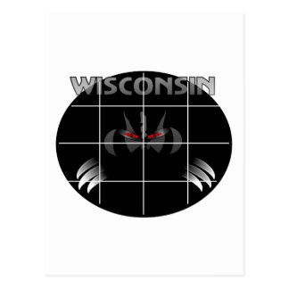 Wisconsin State Badger Design Postcard