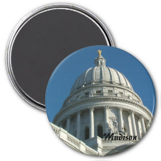 Wisconsin State Capitol 7.5 Cm Round Magnet