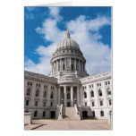 Wisconsin State Capitol Building and Entrance Greeting Card