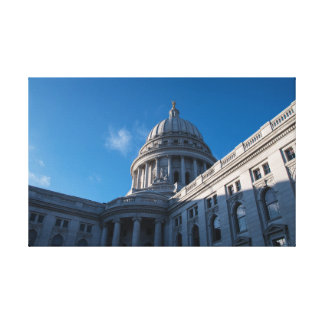 Wisconsin State Capitol Closeup Canvas Print