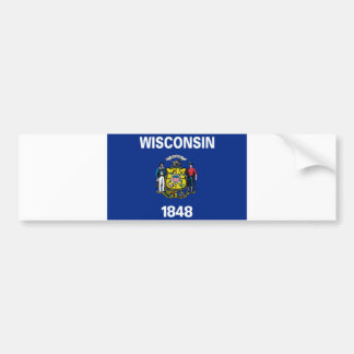 Wisconsin State Flag Bumper Stickers